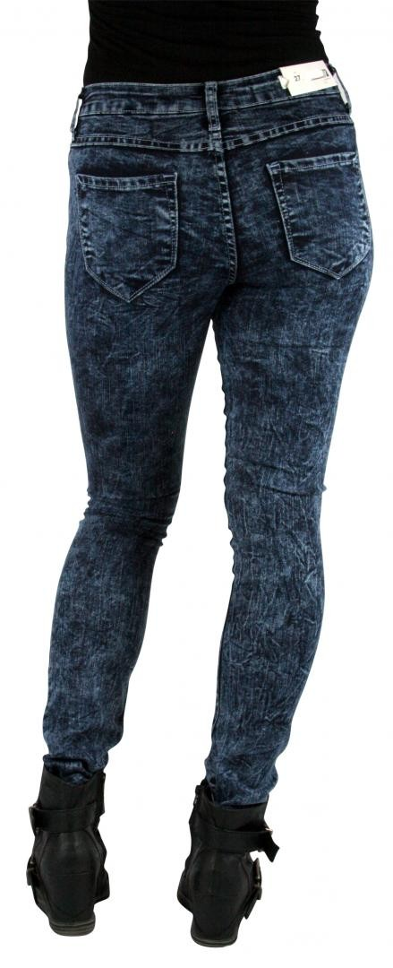 High Waist High Rise Dark Acid Wash Skinny Slim Jeans