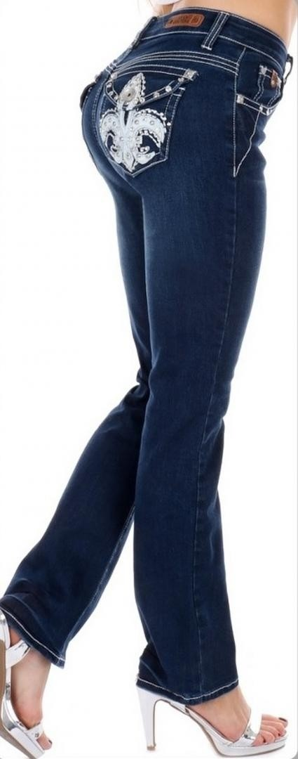 Sexy Couture Women's 421-PB Medium Wash Boot Cut Denim Jeans 3-17