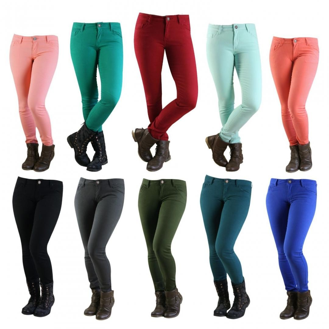 Hot Women's Tregging Pencil Pants- 24 COLORS - Slim/Skinny