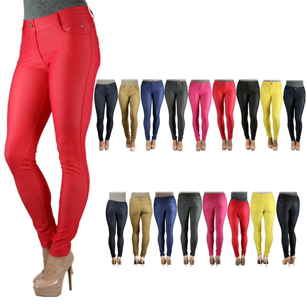 DARK COLORED JEGGINGS (like maroon, jean color, dark green, black, etc.) got to be stretchy with like spandex in them Want to try a fun colored jegging with a loose or fun top. Comfortable and they look good - I want different colors (grey, wine, burnt orange, etc).