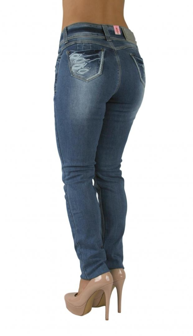 Sexy Couture Women's Columbian Butt Lifter Mid Rise Medium Wash Skinny Denim Jeans 1-15