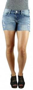 Machine Jeans Light Wash Denim Cutoff Shorts