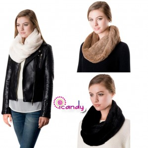 Women's Fashion Infinity Faux Fur Winter Warm Scarf