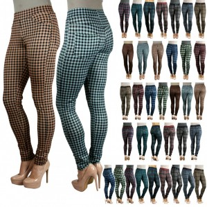 Plaid Slim Fit Skinny Pants - Multiple Variations