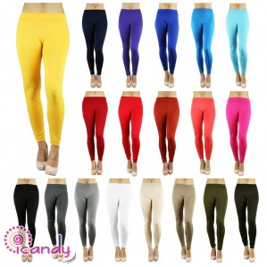 Yelete Women's Fleece Lined Leggings Solid Winter Thick Stretch One Size & Plus