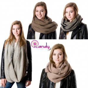 Women's Fashion Chevron Infinity Winter Warm Scarf