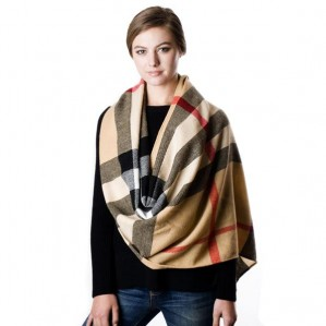 Women's Check Pattern Fringe Fashion Winter Warm Scarf