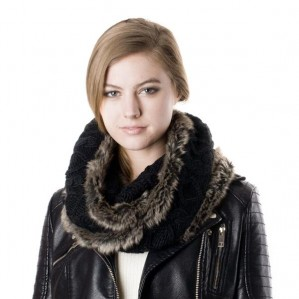 Women's Faux Fur Fashion Infinity Warm Scarf